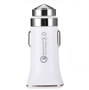 Автомобильное зарядное устройство LZ-328 USB Quallcomm Quick Charge 3.0 (быстрая зарядка) (3,1 A) (white)