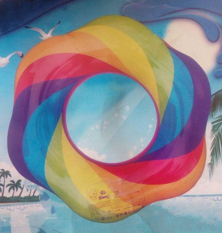 Надувной спасательный  радужный круг (60 см)
