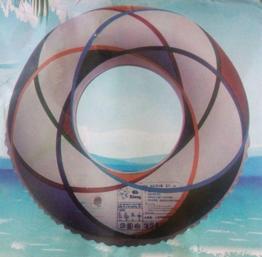 Надувной спасательный  белый круг (60 см)
