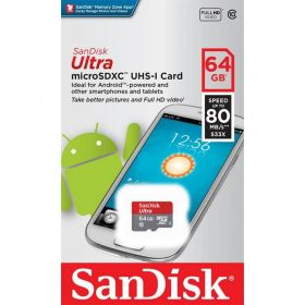 Карта памяти Sandisk 64 Gb Ultra MicroSDXC Class 10 до 80Mb/s