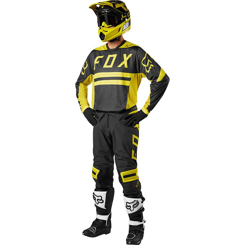 Fox - 2018 Flexair Preest Dark Yellow комплект джерси и штаны, темно-желтый