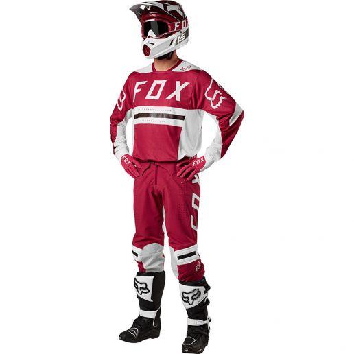 Fox - 2018 Flexair Preest Dark Red комплект джерси и штаны, темно-красный