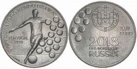Португалия 2,5 евро 2018 г. ЧЕМПИОНАТ МИРА ПО ФУТБОЛУ. РОССИЯ-2018