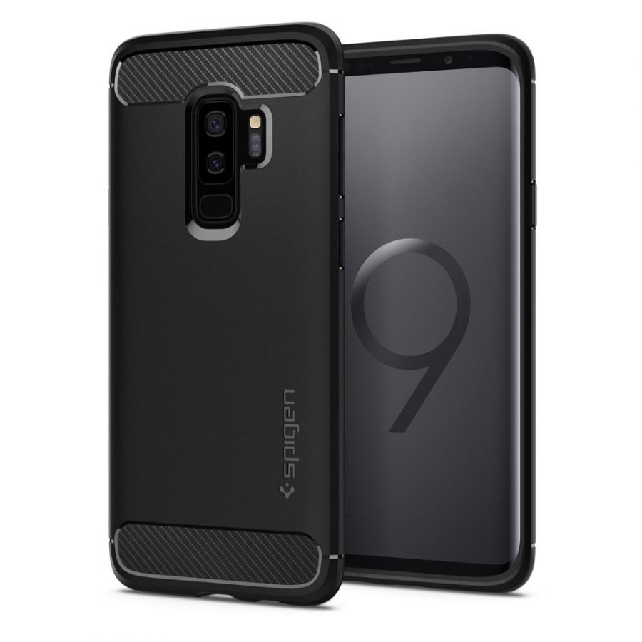 Чехол Spigen Rugged Armor для Samsung S9 Plus черный