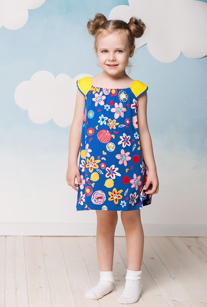 Синий сарафан для девочки 5 лет