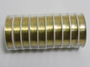 Проволока 0,3мм, длина 12м, цвет золото (1уп = 5 шт)