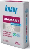 Штукатурка Knauf DIAMANT, декоративная гипсовая штакатурка для стен, фасада, Диамант Короед 2,5 мм (25 кг)
