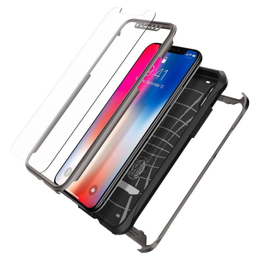 Чехол SGP Spigen Reventon для iPhone X стальной