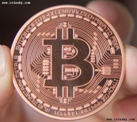 Монета 1 Биткоин Медный цвет 2013
