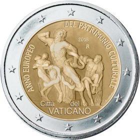 Европейский год культурного наследия 2 евро Ватикан 2018