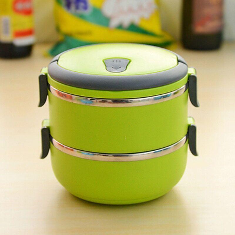 Термо ланч-бокс из нержавеющей стали, 1,4 л (Цвет: Зеленый)