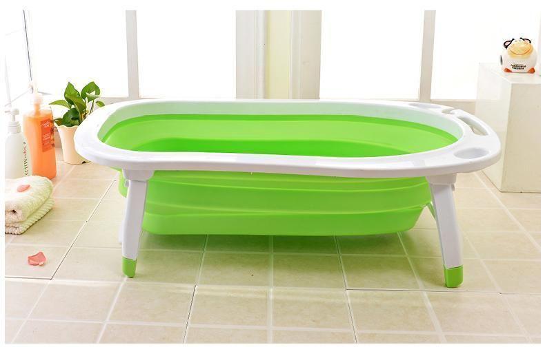 Детская складная ванна Folding Baby Bathtub (Цвет: Зеленый)