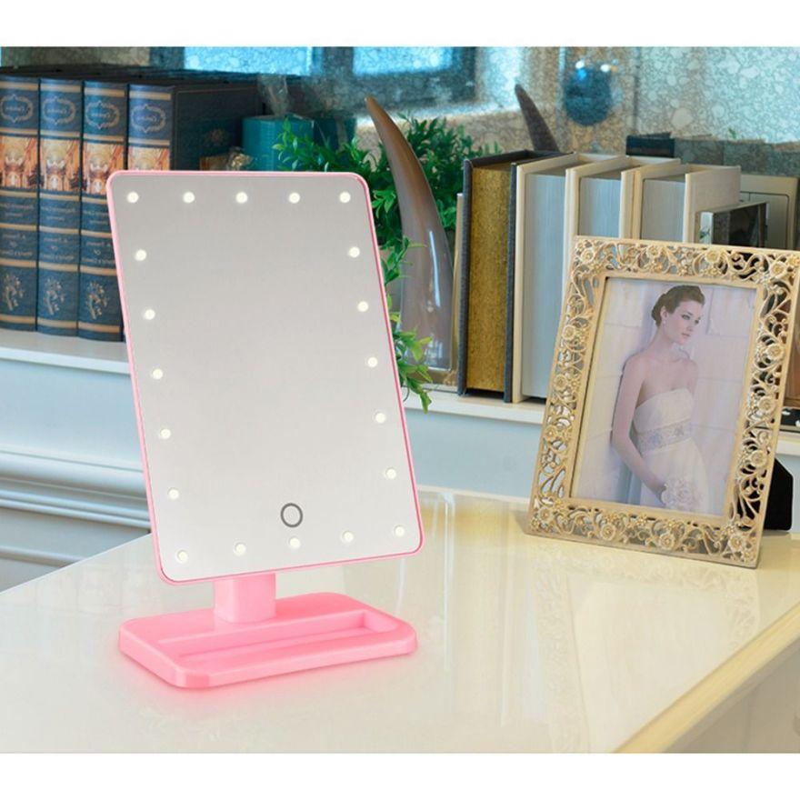 Зеркало Large LED Mirror (Цвет: Розовый)