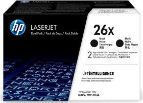 Двойная упаковка лазерный картридж повышенной емкости Hewlett Packard CF226XF (HP 26X) Black