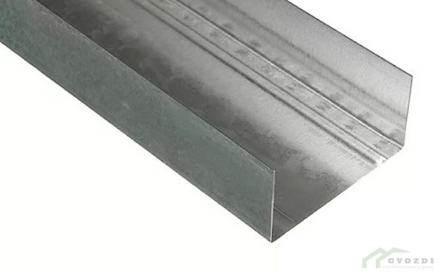 Профиль  для гипсокартона, UW 75х40х0.44, длина 3 м, (ПН профиль)