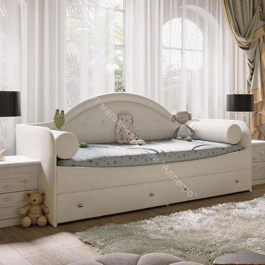 Кровать с мягкой спинкой «Адель» тип 1 (Крем)