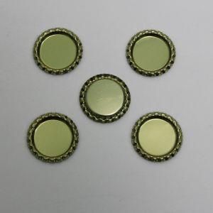 Крышка, металл, Д.вн. 25 мм, Д.наруж. 31 мм, цвет №А02 золото (1уп = 24шт)
