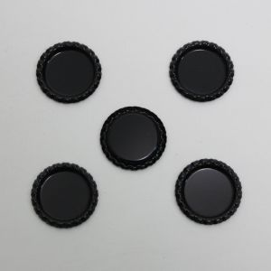 Крышка, металл, Д.вн. 25 мм, Д.наруж. 31 мм, цвет №А03 черный (1уп = 24шт)