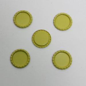 Крышка, металл, Д.вн. 25 мм, Д.наруж. 31 мм, цвет №А07 лимонный (1уп = 24шт)