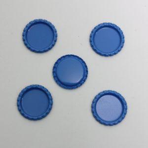 Крышка, металл, Д.вн. 25 мм, Д.наруж. 31 мм, цвет №А09 голубой (1уп = 24шт)