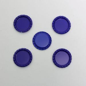 Крышка, металл, Д.вн. 25 мм, Д.наруж. 31 мм, цвет №А10 синий (1уп = 24шт)