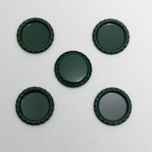 Крышка, металл, Д.вн. 25 мм, Д.наруж. 31 мм, цвет №А12 темно-зеленый (1уп = 24шт)