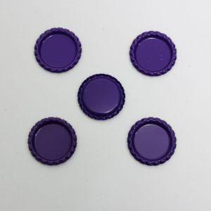 Крышка, металл, Д.вн. 25 мм, Д.наруж. 31 мм, цвет №А13 фиолетовый (1уп = 24шт)