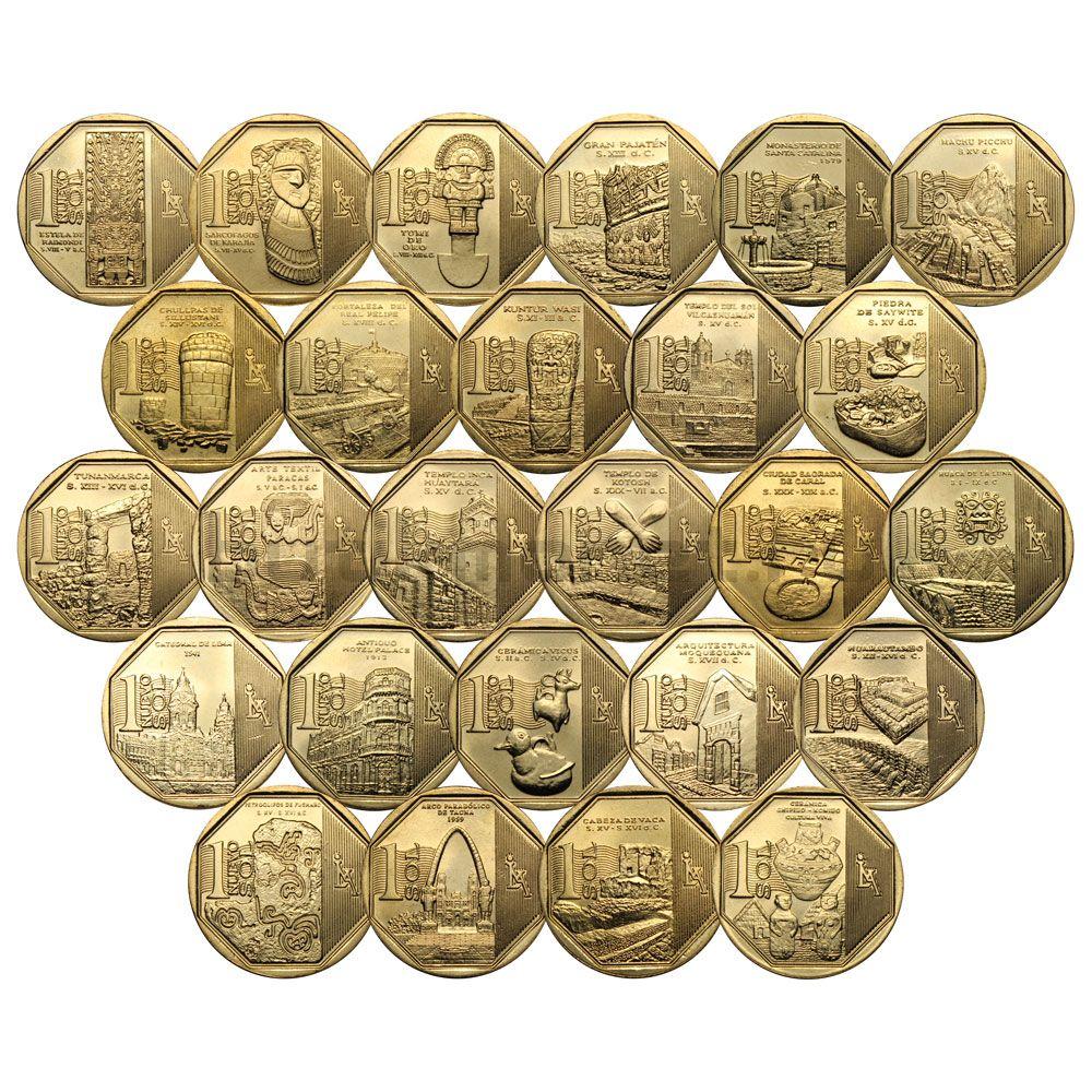 Набор 1 соль 2010-2016 Перу Богатство и гордость Перу (26 монет)