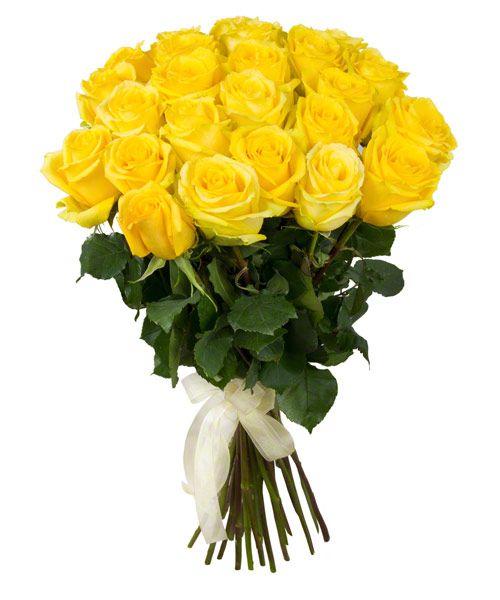 Букет из желтых роз 60 см 25 шт «Эйфория»