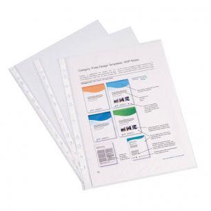 Папки-файлы перфорированные, A4, ERICH KRAUSE, комплект 100 шт., гладкие, эконом, 0,03 мм, 30630