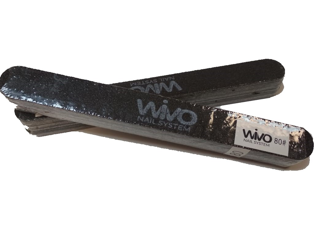 Сменные файлы-пилки WIVO на липкой основе 080 грит  (Чёрный, Корея , 180х20мм., 25 шт.)