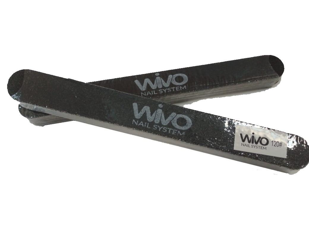 Сменные файлы-пилки WIVO на липкой основе 120 грит  (Чёрный, Корея , 180х20мм., 25 шт.)