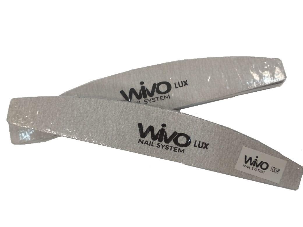 Сменные файлы-пилки WIVO на липкой основе ЛУНА 100 грит  (Зебра, Япония , 180х28мм., 25 шт.)