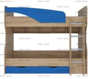 Кровать двухъярусная Британика КР-404, 90