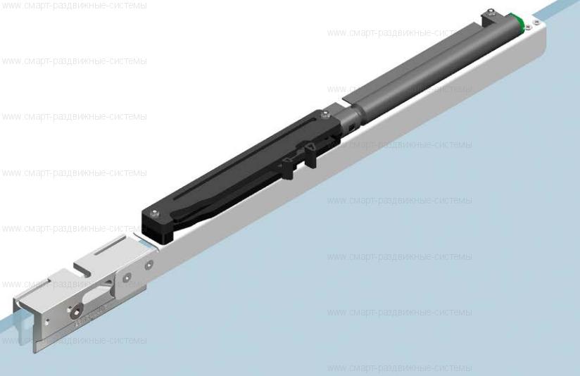 Доводчик для стеклянных дверей ECLISSE Rallenty soft для UNICO и LUCE  - OPRSV2