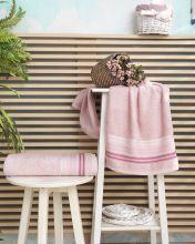 "Полотенце махровое ""KARNA"" PAULA  50*90 см (розовое) Арт.2997-1"