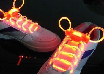 Шнурки с LED подсветкой (Цвет: Оранжевый)