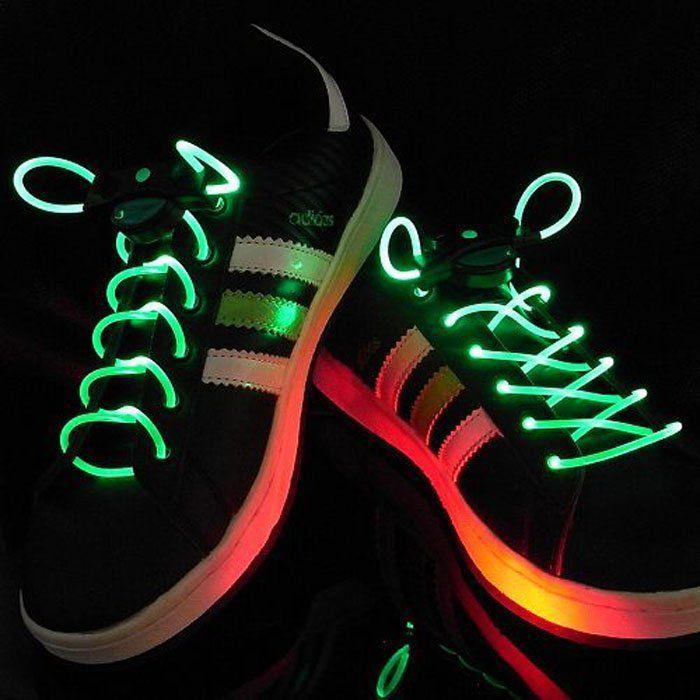 Шнурки с LED подсветкой (Цвет: Зеленый)
