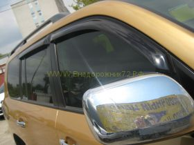 Дефлекторы окон (ветровики) для Toyota Land Cruiser 200 / Lexus LX