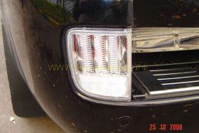 Задние противотуманные фары диодные (Прозрачные) для Toyota Land Cruiser 200