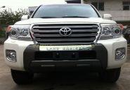 Защита переднего бампера Тип - 1 для Toyota Land Cruiser 200 2012
