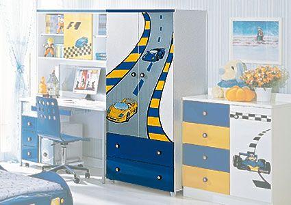 Шкаф для одежды F1 blue, Milli Willi