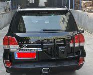 Хромированные накладки на задние противотуманные фары для Toyota Land Cruiser 200