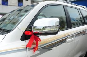 Хромированные накладки на зеркала (Тип 2) для Toyota Land Cruiser 200