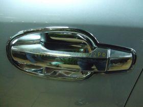 """Хромированные накладки под ручки """"чашки"""" (Тип 2) для Toyota Land Cruiser 200"""