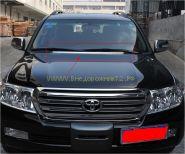 Хромированная накладка на передний воздухозаборник для Toyota Land Cruiser 200