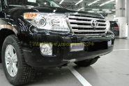Решетка в передний бампер (Тип 2) для Toyota Land Cruiser 200 2012-