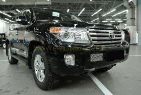 Решетка в передний бампер (Тип 3) для Toyota Land Cruiser 200 2012-