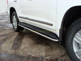 Зашита штатного порога 42 мм (TOYLC20012-03) для Toyota Land Cruiser 200 2012