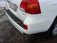 Защита заднего бампера 75х42 мм овальная (TOYLC20012-09) для Toyota Land Cruiser 200 2012